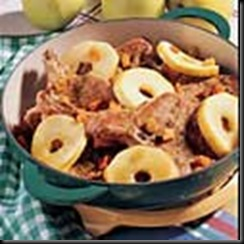 pork chops with cream and apples
