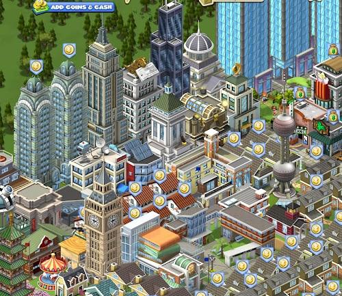 ついにやったよ!CityVilleで目標にしてたLANDMARK4種をコンプしたった!