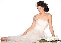 Mel Lisboa de noiva