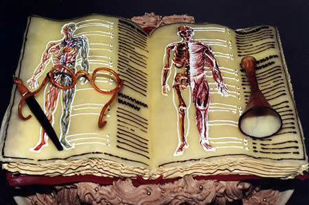 Med school Book Cake