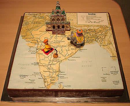 Indian Map Cake