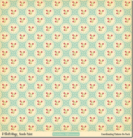 Thrift Shop 507 - PP Needs Paint (front) - Vintage Floral v6 distress