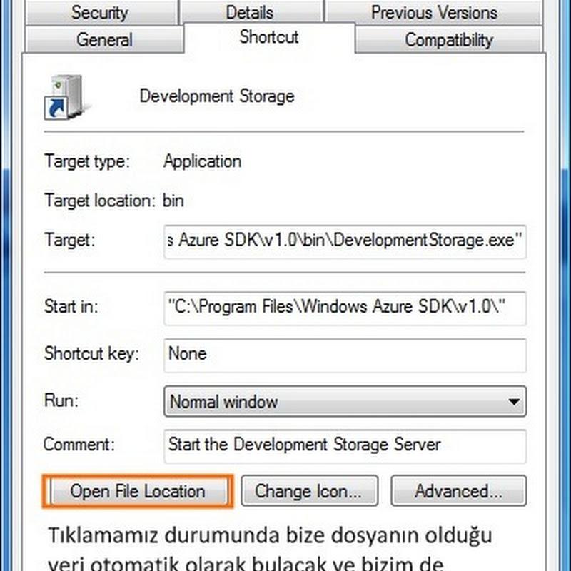 Windows Azure SDK – SQL Server Instance Değiştirilmesi