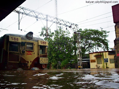 Train in Floods