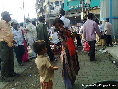 Brother Sister Begging On Street