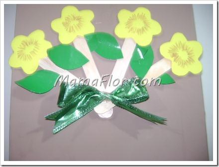 Como hacer un abanico de flores