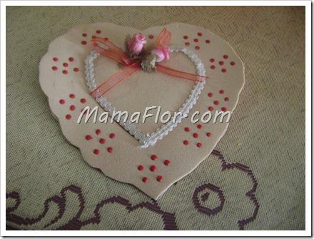 Corazón de fomys para regalarle a mama en su dia