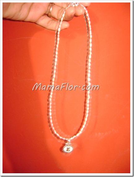 Collar de perlas del río con chaquiras de plata para el dia de mama