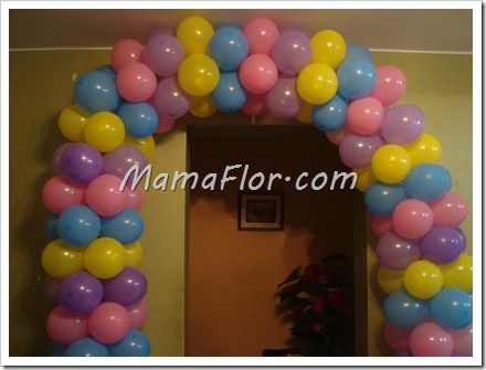 Como hacer un arco de globos