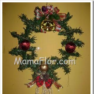 Corona para decorar la puerta de la casa