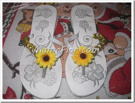 Como decorar las sandalias con chenille