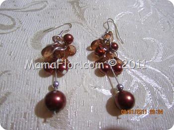 Como hacer aretes con perlas y alfileres