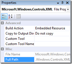 Microsoft.Windows.Controls.XML as embedded resource