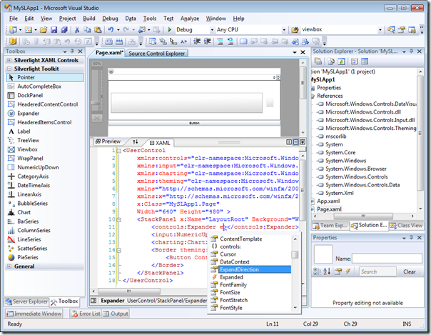 Toolkit Application in Visual Studio