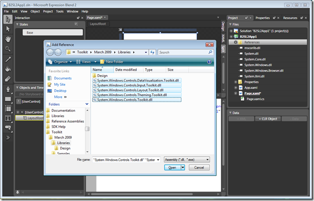 Add Reference to Toolkit Assemblies