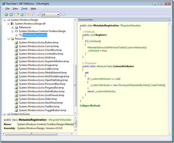 System.Windows.VisualStudio.Design.dll in reflector