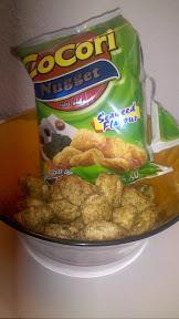 Cocori Nuggets in einer Schüssel mit Verpackung