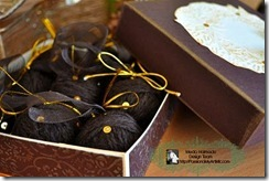 brown gold globes and gift box