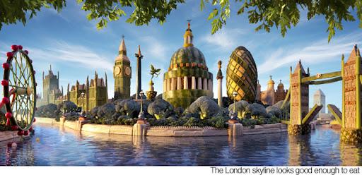 Kota London dari Buah-buahan dan Sayuran