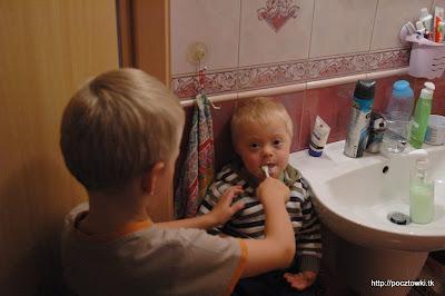 A teraz umyjemy ząbki