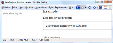 Internet Explorer 7 dentro do Mozilla Firefox 3