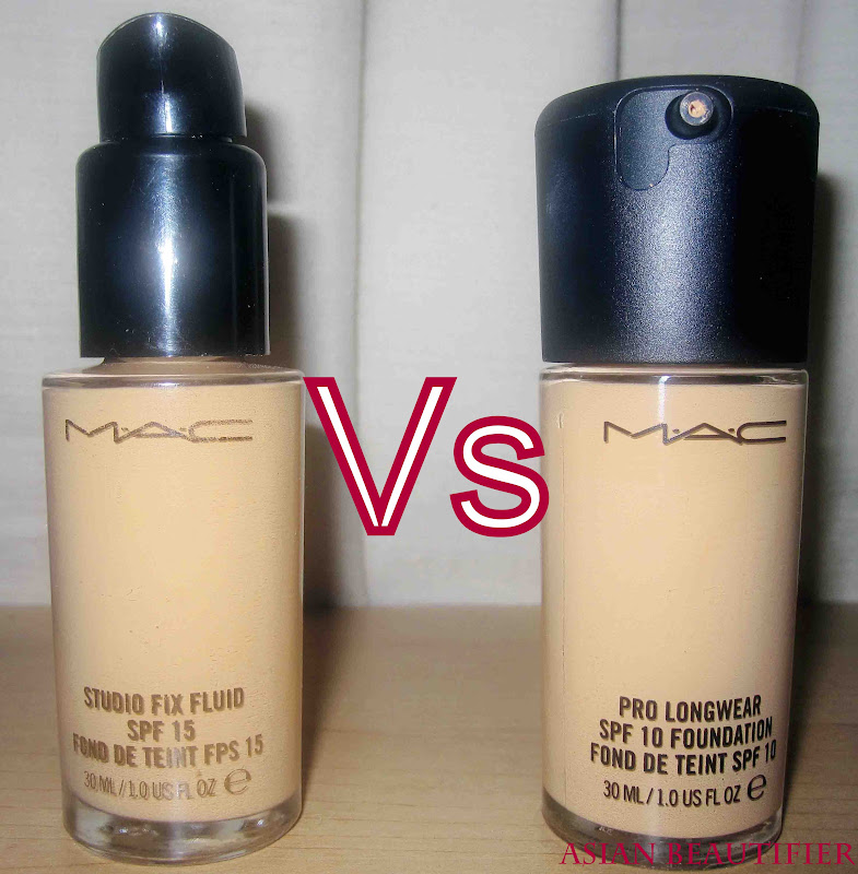 MAC Studio Fix Fluid vs MAC Pro Longwear Foundation
