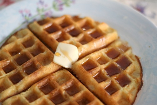 yeasted waffles 3