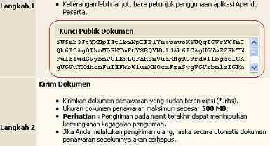 Kunci Publik Dokumen Lpse