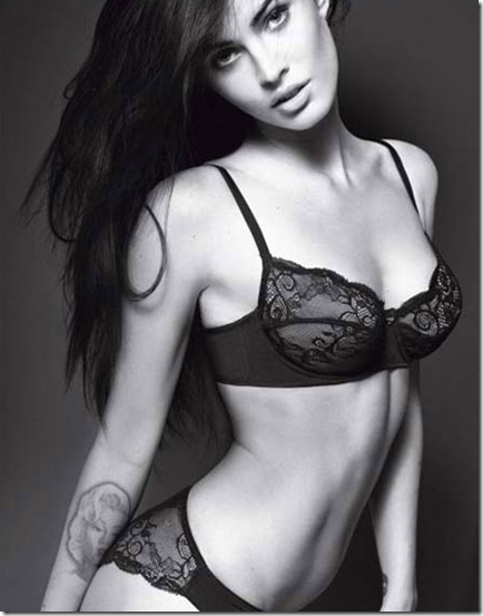 Sexy Megan Fox Armani Underwear Photoshoot