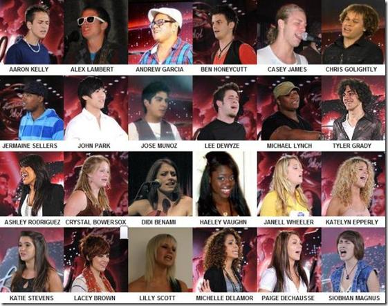 American Idol 9 Top 24 Finalists Photos