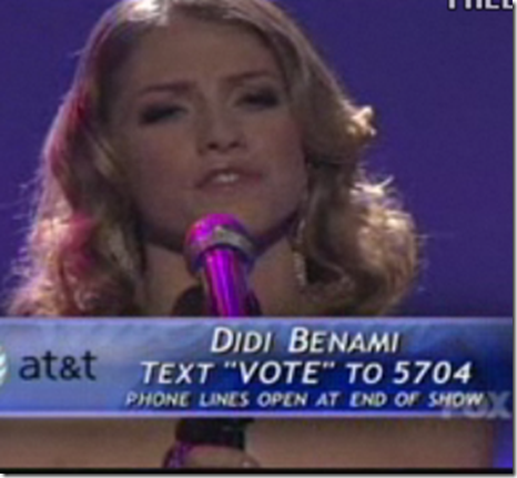 Didi Benami What Becomes of the Broken Hearted American Idol Top 10 March 30