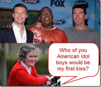Will Susan Boyle be kissed by Randy Jackson and Simon Cowell