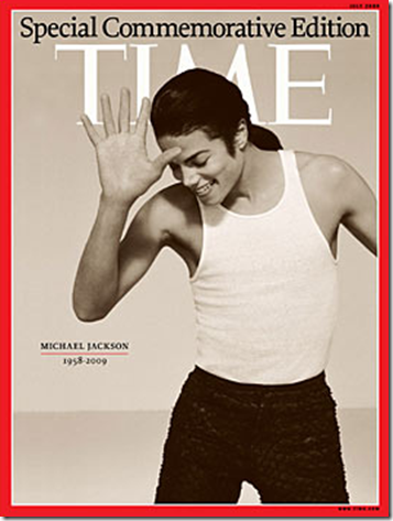 Michael Jackson in Time Magazine Cover