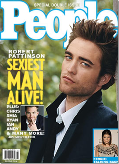 Robert Pattinson 2009 Sexiest Man Alive People Magazine