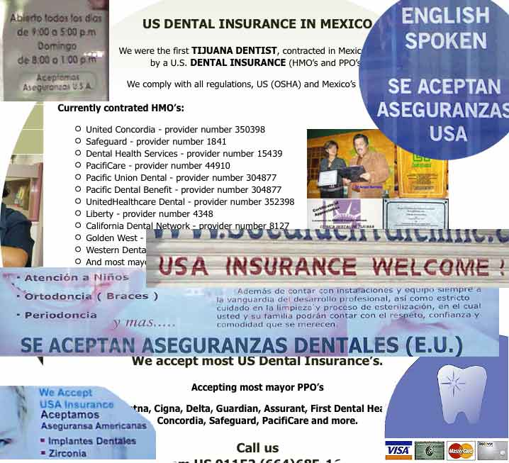 dental insurance and credit cards Tijuana