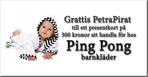 Pingpong Barnkläder vinnare