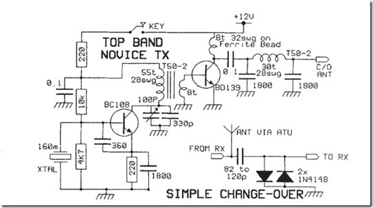 amateur radio qrp projects  simple 160m novice transmitter