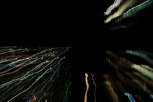 зум взрыв город ночь zoom-burst city night