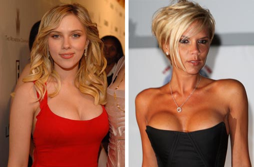 Scarlett Johansson e Victoria Beckham usam creme que aumenta seios