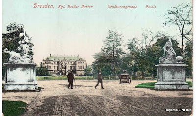 k niglicher gro er garten 1910 dresden postkarte. Black Bedroom Furniture Sets. Home Design Ideas
