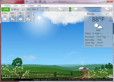 Display Weather Conditions As A Window On Your Desktop