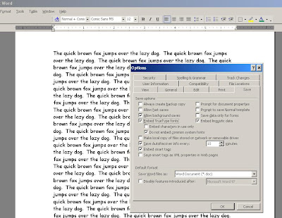 How to Embed Fonts by Default in your MS Word documents