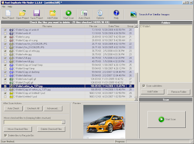 Fast Duplicate File Finder Main Screen