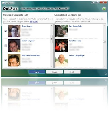 Sync Facebook Friends Photos with Outlook Contacts