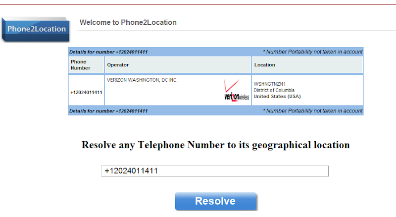 how to find what da a phone number is on