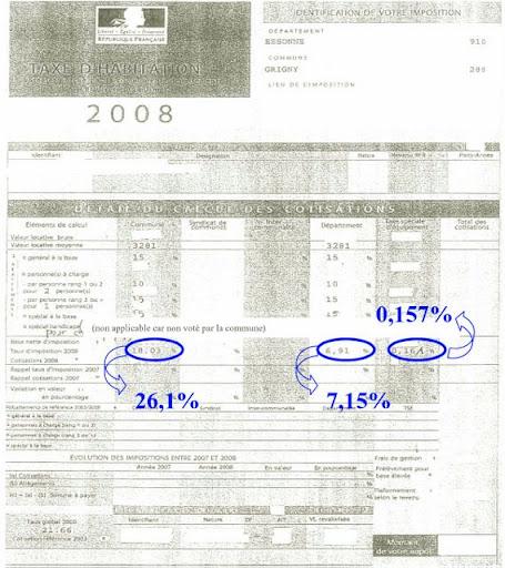 Calcul de la taxe habitation - Taxe habitation garage ...