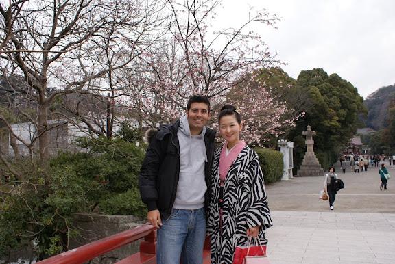 Con una japonesa en Kamakura