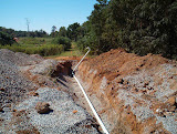 Installation of a Landfill Gas vent trench