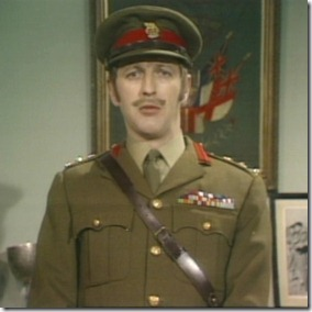 Graham Chapman as Colonel: 'Haynesworth to the Lions?  Too silly!'