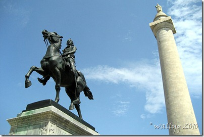 Mount Vernon: Washington Monument & Layfayette Monument.  By wallyg